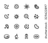 simple set of bacteria related...   Shutterstock .eps vector #325622897