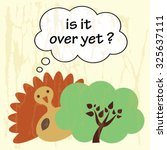 funny cartoon with vector...   Shutterstock .eps vector #325637111
