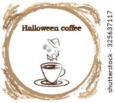 stylish coffee cup sketched... | Shutterstock .eps vector #325637117