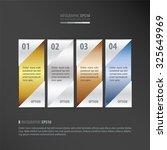 vector banner   gold  bronze ... | Shutterstock .eps vector #325649969