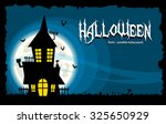 vector halloween background... | Shutterstock .eps vector #325650929