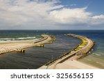 port of kolobrzeg  poland  in... | Shutterstock . vector #325656155
