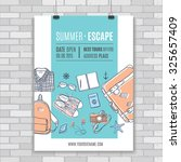 vector poster template with... | Shutterstock .eps vector #325657409