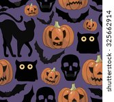 halloween background  with... | Shutterstock .eps vector #325662914