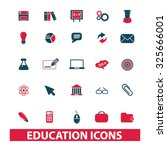 education icons | Shutterstock .eps vector #325666001
