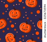 seamless pattern with pumpkins... | Shutterstock .eps vector #325673594