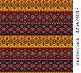 geometric  ethnic  seamless... | Shutterstock .eps vector #325674017
