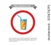 icon of soda glass with straw    Shutterstock .eps vector #325676291
