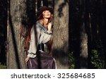 the girl  a beautiful model in... | Shutterstock . vector #325684685