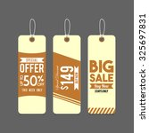 sale tag design | Shutterstock .eps vector #325697831