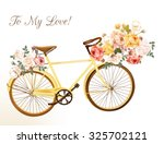 Bicycle In A Yellow Color With...