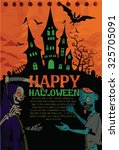 halloween design template.... | Shutterstock .eps vector #325705091