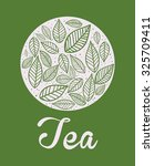 tea time concept with tea cup... | Shutterstock .eps vector #325709411