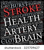 stroke word cloud on a white... | Shutterstock .eps vector #325709627