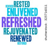 refreshed word cloud on a white ... | Shutterstock .eps vector #325716011