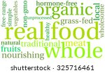 real food  word cloud on a... | Shutterstock .eps vector #325716461