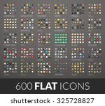 large icons set  600 vector... | Shutterstock .eps vector #325728827