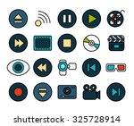 outline icons thin flat design  ... | Shutterstock .eps vector #325728914
