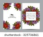 vintage delicate invitation... | Shutterstock .eps vector #325736861