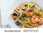 Fettuccini With Shrimps And...
