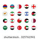 set of round icons middle east...