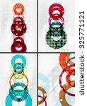 set of circle shape design... | Shutterstock .eps vector #325771121