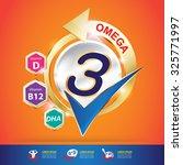 omega and vitamin logo... | Shutterstock .eps vector #325771997