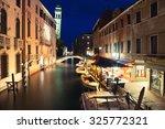 Italy. Venice At Night. View...
