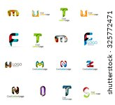 set of new universal company... | Shutterstock . vector #325772471