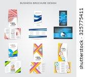 tri fold brochure design vector ... | Shutterstock .eps vector #325775411
