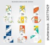 tri fold brochure design vector ... | Shutterstock .eps vector #325775429