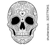 day of the dead sugar skull... | Shutterstock .eps vector #325779341