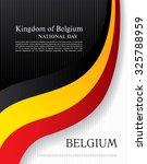 kingdom of belgium. national... | Shutterstock .eps vector #325788959