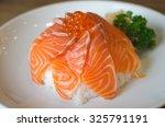 salmon don  japanese cuisine | Shutterstock . vector #325791191