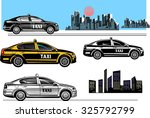 black and color taxi car....