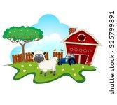 sheep on farm cartoon for your