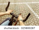 Woman Riding  Bicycle In...