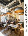 restaurant interior in the... | Shutterstock . vector #325806479
