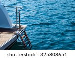 Yacht Ladder Into The Sea