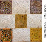 colorful mosaic in famous parc... | Shutterstock . vector #325812791