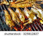 king size prawns grill with... | Shutterstock . vector #325812827