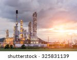 oil refinery factory in the... | Shutterstock . vector #325831139