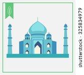 taj mahal icon | Shutterstock .eps vector #325834979