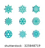 christmas snowflake set with... | Shutterstock .eps vector #325848719