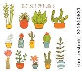 beautiful set of hand drawn... | Shutterstock .eps vector #325850831