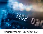 credit card in blur style for... | Shutterstock . vector #325854161