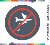 no bombing icon. | Shutterstock .eps vector #325855301