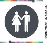 love couple icon. | Shutterstock .eps vector #325855337