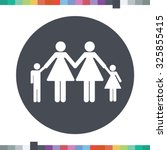 lesbian couple with children... | Shutterstock .eps vector #325855415