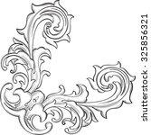 the acanthus nice corner... | Shutterstock .eps vector #325856321